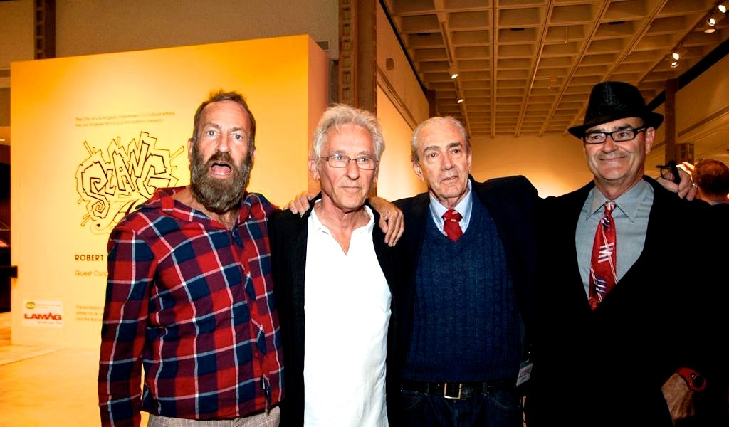 (from left to tight) Kenny Sharf, Ed Ruscha, Robert William, and Greg Escalante
