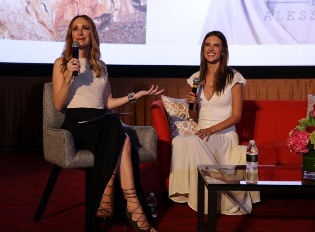 Catt Sadler and Alessandra Ambrosio having a great time speaking on all things fashion at the Simply Stylist LA event presented by CITI and The Grove