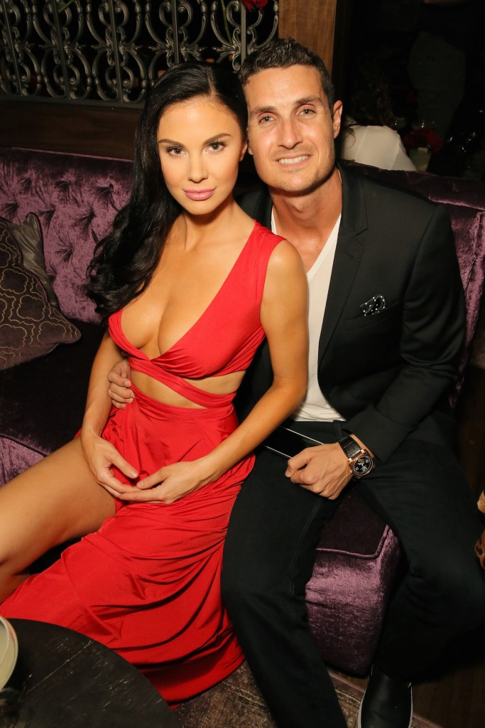 Model Jayde Nicole (L) and co-owner of Toca Madera Tosh Berman attend EDL's grand opening party for Toca Madera on April 30, 2015 in Los Angeles, California