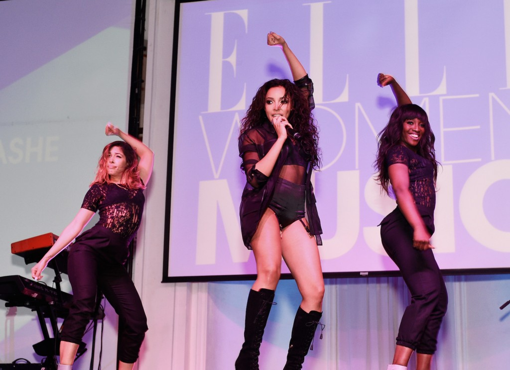 Singer Tinashe performs onstage at the attend 6th Annual ELLE Women In Music Celebration Presented By eBay at Boulevard3 on May 20, 2015 in Hollywood, California
