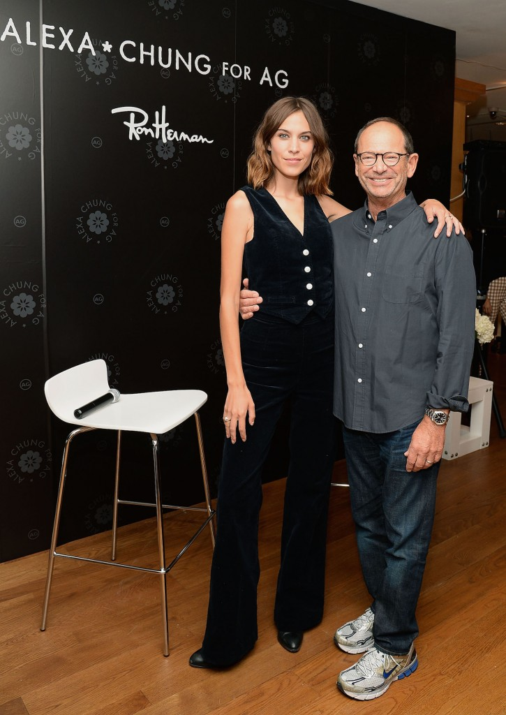 Alexa Chung and Ron Herman attend the launch of Alexa Chung X AG PA at Ron Herman on July 23, 2015 in Los Angeles, California
