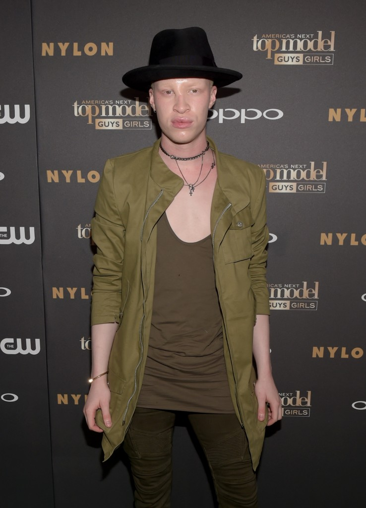 Model Shaun Ross attends the