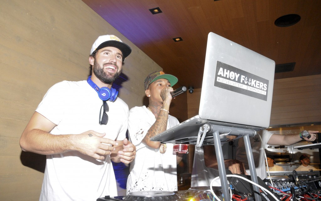 Tyga jammed with Brody Jenner as he DJ'd at The h.wood Group's