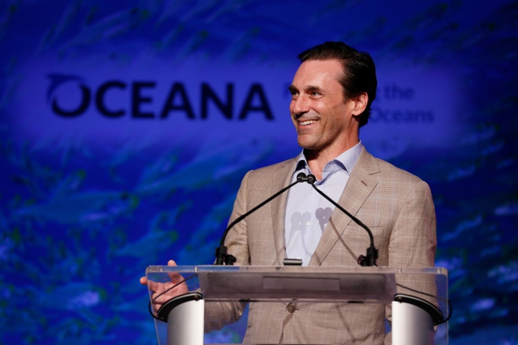 John Hamm speaks at the 8th Annual 'Mad for the Ocean' Oceana Fundraiser at The Strand in Dana Point on August 2, 2015