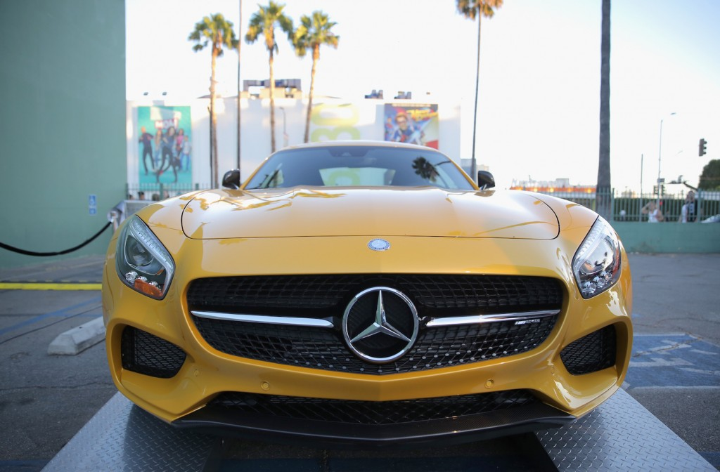 A view of a Mercedes-Benz on display at the Mercedes-Benz 2015 Evolution Tour on August 4, 2015 in Los Angeles, California