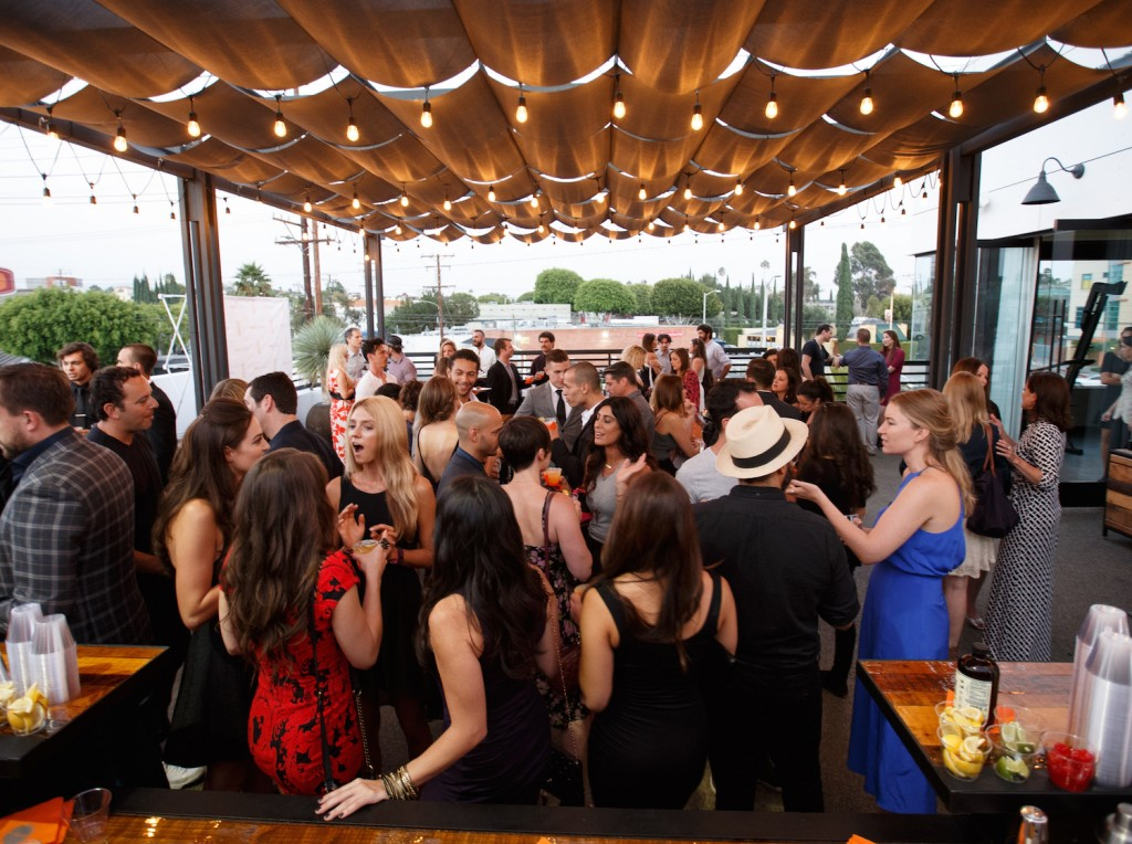 A general view of atmosphere at  the 'Rise Nation Fitness Studio's Los Angeles Grand Opening' on August 21, 2015 in West Hollywood, California