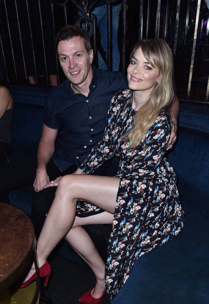 Kyle Newman and Jaime King attend Just Jared's