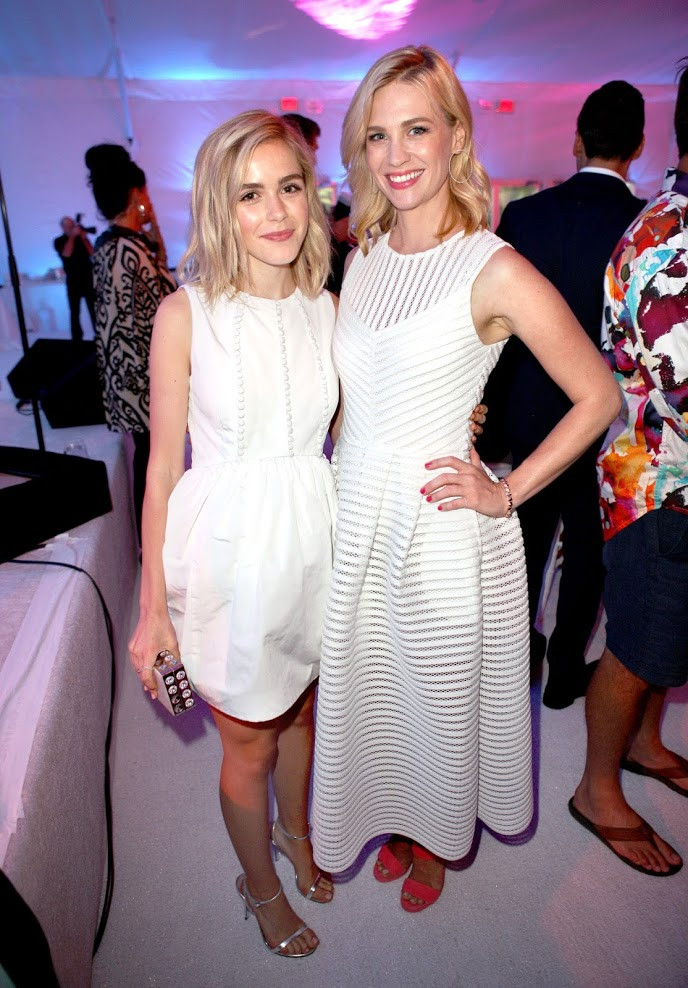 Kiernan Shipka and January Jones attend the 8th Annual 'Mad for the Ocean' Oceana Fundraiser at The Strand in Dana Point on August 2, 2015