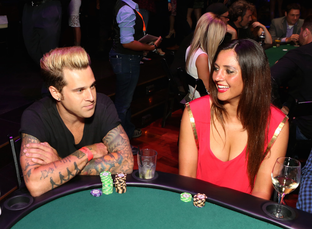 Singer-songwriter Ryan Cabrera (L) attends the Get Lucky for Lupus LA celebrity poker tournament and party at Avalon on September 16, 2015 in Hollywood California