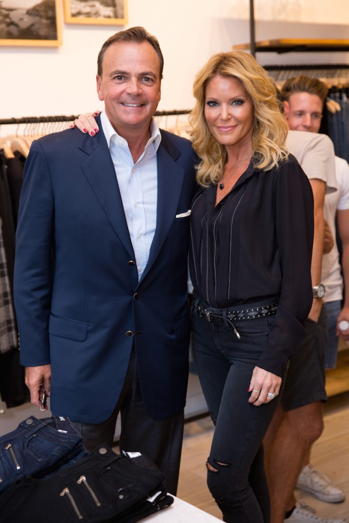 Caruso Affiliated founder and CEO Rick Caruso and PAIGE founder and creative director Paige Adams-Geller at the grand opening of PAIGE at The Grove on September 25th, 2015