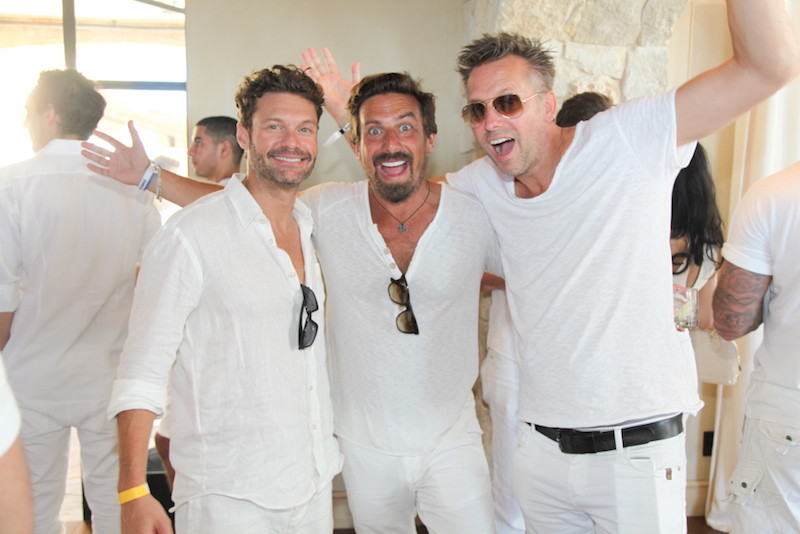 Ryan Seacrest and friends at Treats! Magazine 3rd Annual White Party Presented by Absolut Elyx and Stella Artois