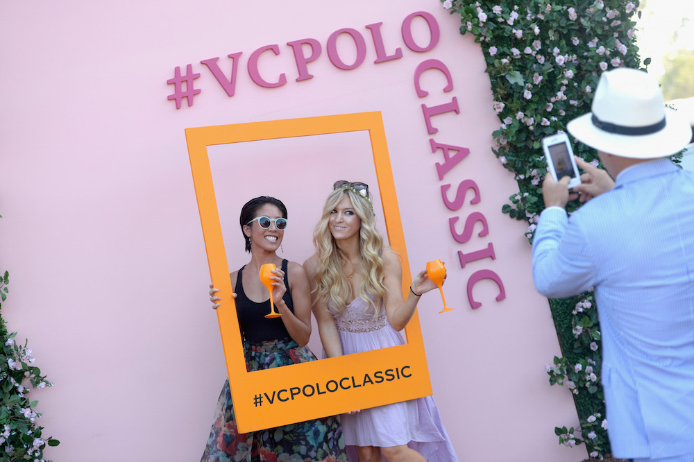 Guests attend the Sixth-Annual Veuve Clicquot Polo Classic at Will Rogers State Historic Park on October 17, 2015 in Pacific Palisades, California