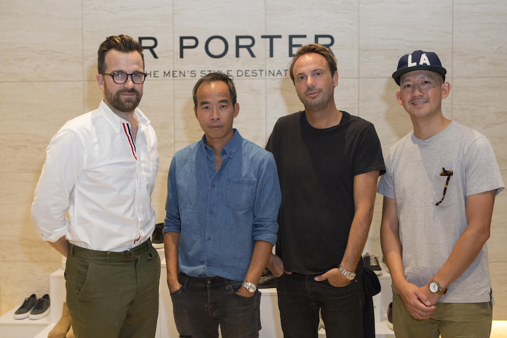 Dan Rookwood, Peter Poopat, Flavio Girolami and Guest attend the 'MR PORTER on style' at Milk Studios on October 6th, 2015