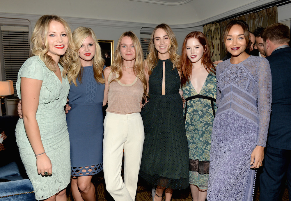 (L-R) TV personality Poppy Jamie, actress Ana Mulvoy-Ten, models Immy Waterhouse, Suki Waterhouse, actresses Ellie Bamber and Ashley Madekwe attend James Corden, Vanity Fair And Burberry Celebrate The 2015 British Academy BAFTA Los Angeles Britannia Awards on October 29, 2015 in Los Angeles, California