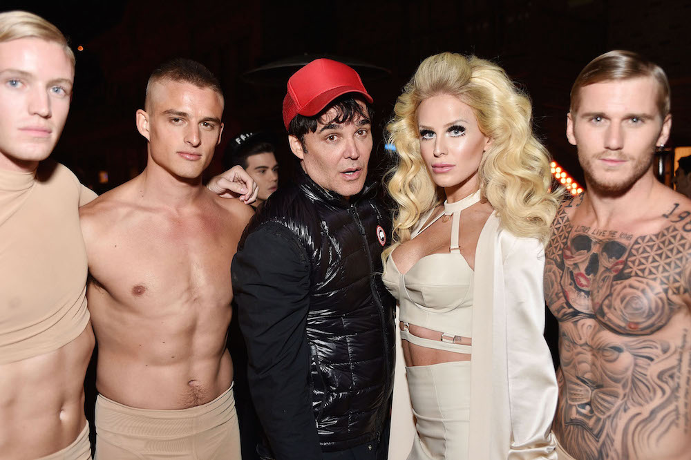 Photographer David LaChapelle and model Gigi Gorgeous attend the August Getty Atelier SS 2016 'The Thread Of Man' Presentation With David LaChapelle at Universal Studios Hollywood on November 11, 2015 in Universal City, California.