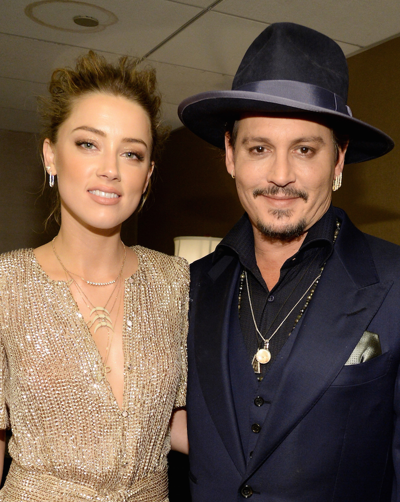 Actors Amber Heard and Johnny Depp attend the 19th Annual Hollywood Film Awards at The Beverly Hilton Hotel on November 1, 2015 in Beverly Hills, California