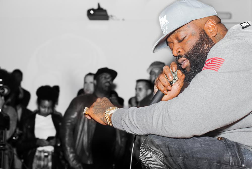 "Rick Ross Previews ""Black Market"" at Sonos Studios"