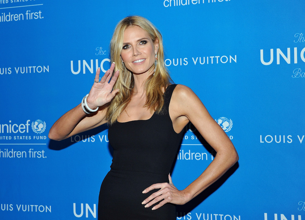 Model Heidi Klum attends the Sixth Biennial UNICEF Ball Honoring David Beckham and C. L. Max Nikias presented by Louis Vuitton at Regent Beverly Wilshire Hotel on January 12, 2016 in Beverly Hills, California