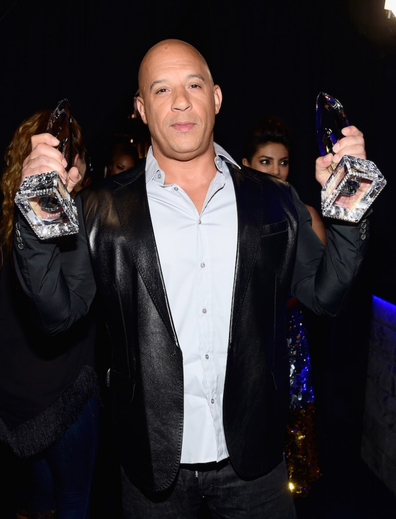 Actor Vin Diesel, winner of the award for Favorite Movie, attends the People's Choice Awards 2016 at Microsoft Theater on January 6, 2016 in Los Angeles, California