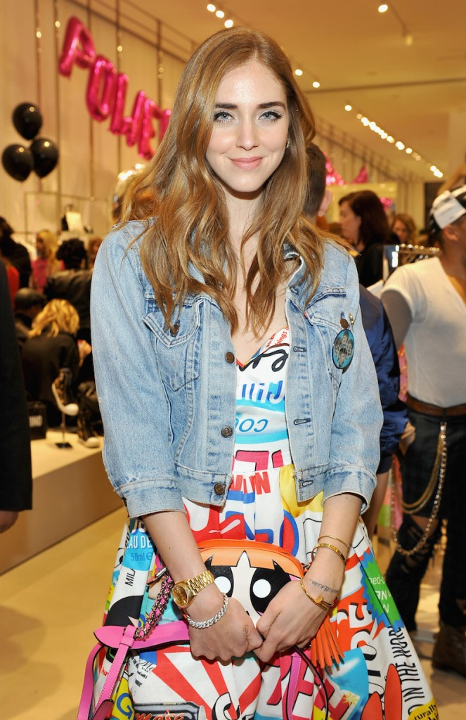 Chiara Ferragni attends The Powerpuff Girls x Moschino Launch Event at Moschino Store on February 4, 2016 in West Hollywood, California