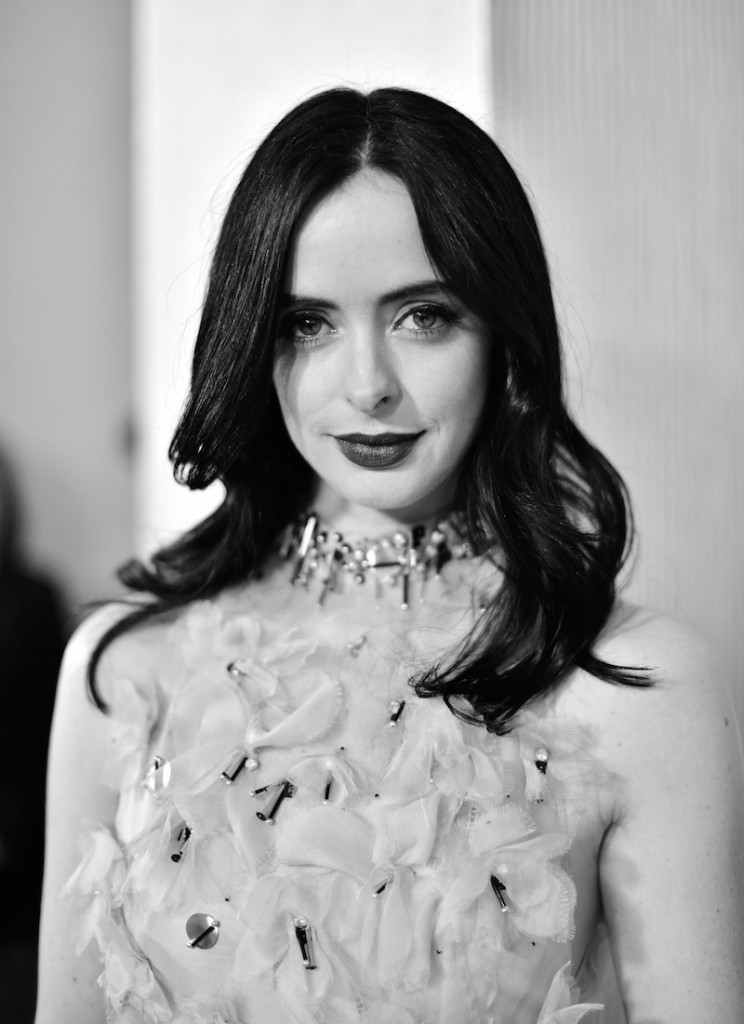 Actress Krysten Ritter attends the 18th Costume Designers Guild Awards with Presenting Sponsor LACOSTE at The Beverly Hilton Hotel on February 23, 2016 in Beverly Hills, California