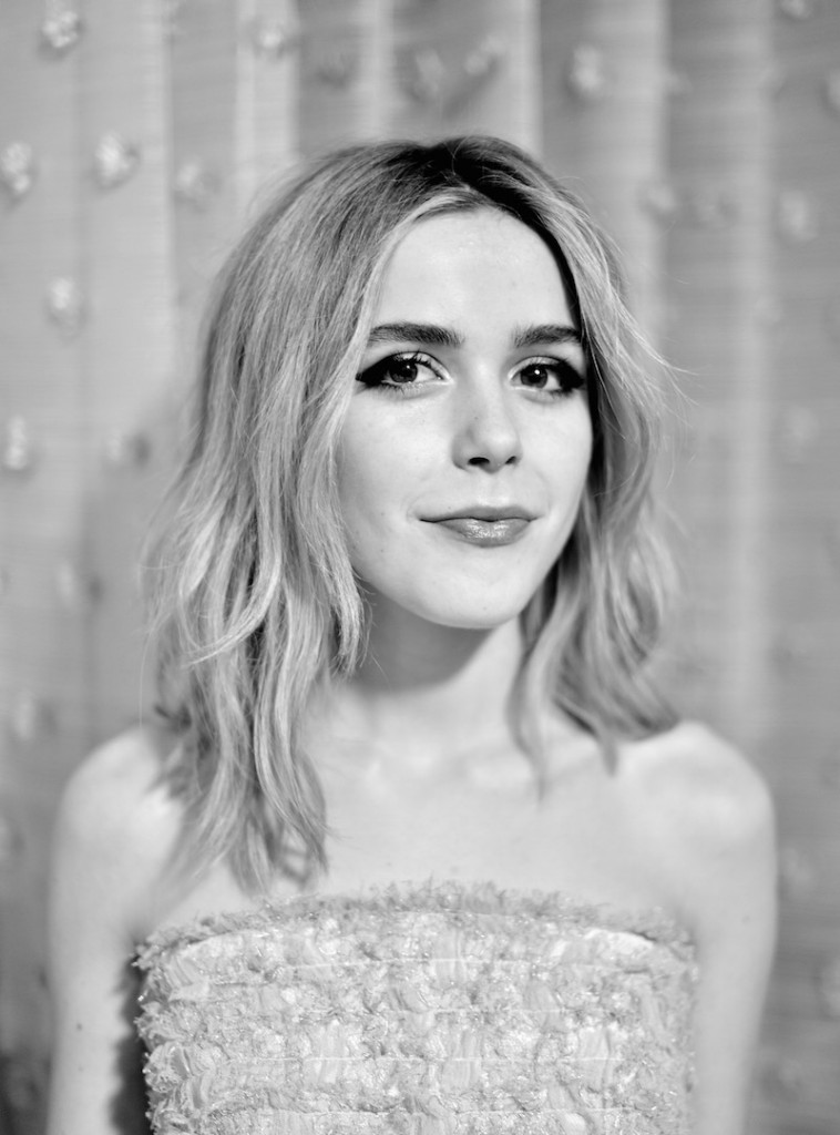 Actress Kiernan Shipka attends the 18th Costume Designers Guild Awards with Presenting Sponsor LACOSTE at The Beverly Hilton Hotel on February 23, 2016 in Beverly Hills, California