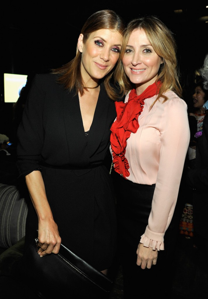 Actors Kate Walsh (L) and Sasha Alexander attend Ninth Annual Women In Film Pre-Oscar Cocktail Party presented by Max Mara, BMW, M-A-C Cosmetics and Perrier-Jouet at Hyde Sunset Kitchen + Cocktails at Hyde On Sunset on February 26, 2016 in West Hollywood, California
