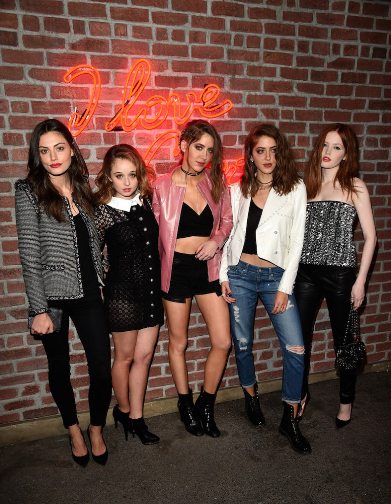 Carson Meyer, Phoebe Tonkin, Sama Abu Khadar, Haya Abu Khadar and Ellie Bamber attend the I Love Coco Backstage Beauty Lounge at Chateau Marmont's Bar Marmont on February 25, 2016 in Hollywood, California