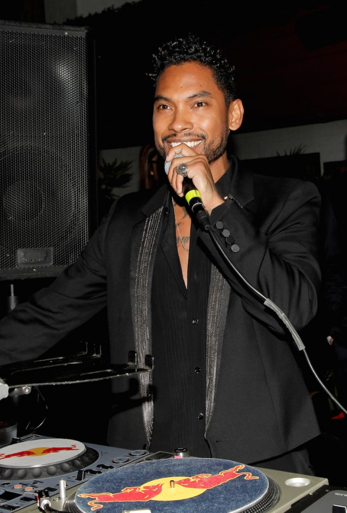 Miguel attends dFm's Grammy Celebration at Hollywood Roosevelt Hotel on February 13, 2016 in Hollywood, California