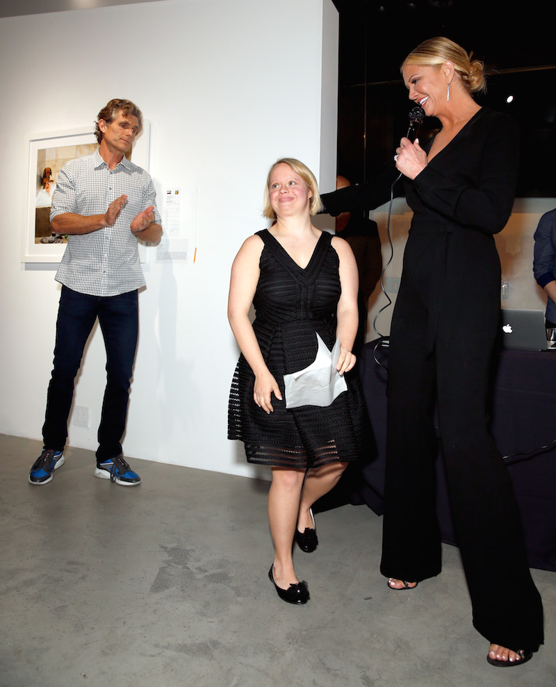 (L-R) Best Buddies International Founder and Chairman Anthony Shriver, actress/Best Buddies Global Ambassador Lauren Potter, and tv personality/Best Buddies Global Ambassador Nancy O'Dell attend Best Buddies