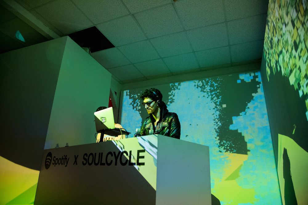 Chromeo DJs SoulCylcle at the Spotify House, SXSW 2016, on March 14, 2016 in Austin, Texas