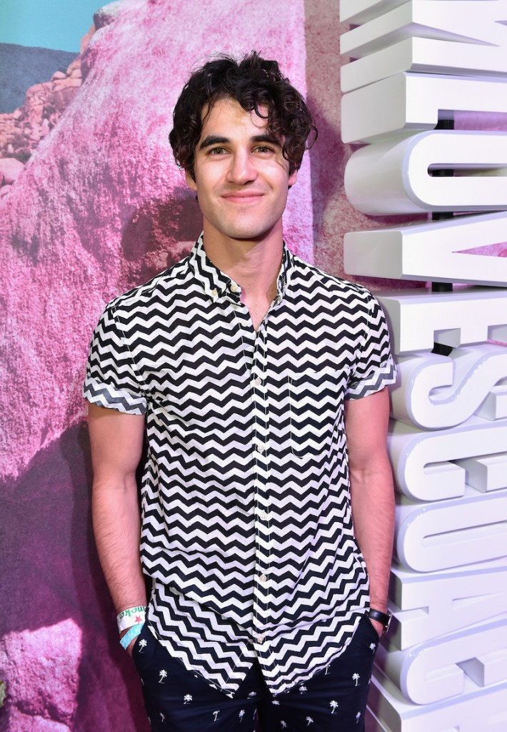 Actor Darren Criss attends the H&M Loves Coachella Pop UP at The Empire Polo Club on April 15, 2016 in Indio, California