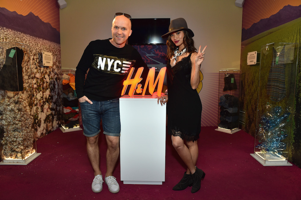 Daniel Kulle, President, H&M North America, and actress Jamie Chung attend the H&M Loves Coachella Pop UP at The Empire Polo Club on April 15, 2016 in Indio, California