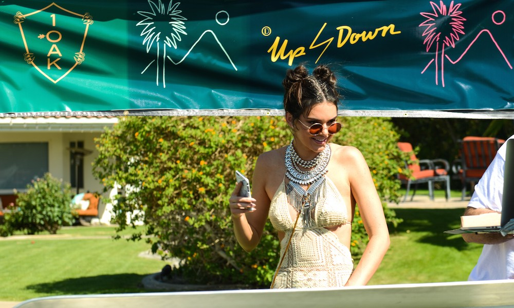 Kendall Jenner surprised guests with a DJ set at the 1 OAK  Up&Down private pop up event during festival weekend