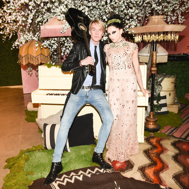 Ken Downing, Senior Vice President and Fashion Director, Neiman Marcus and Stacey Bendet, CEO & Creative Director of alice + olivia attend the alice + olivia by Stacey Bendet Los Angeles Runway Show at NeueHouse Los Angeles on April 13, 2016 in Hollywood, Californi