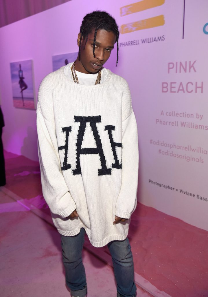 Rapper A$AP Rocky attends adidas Originals Pink Beach Pharrell Williams party on May 13, 2016 in West Hollywood, California