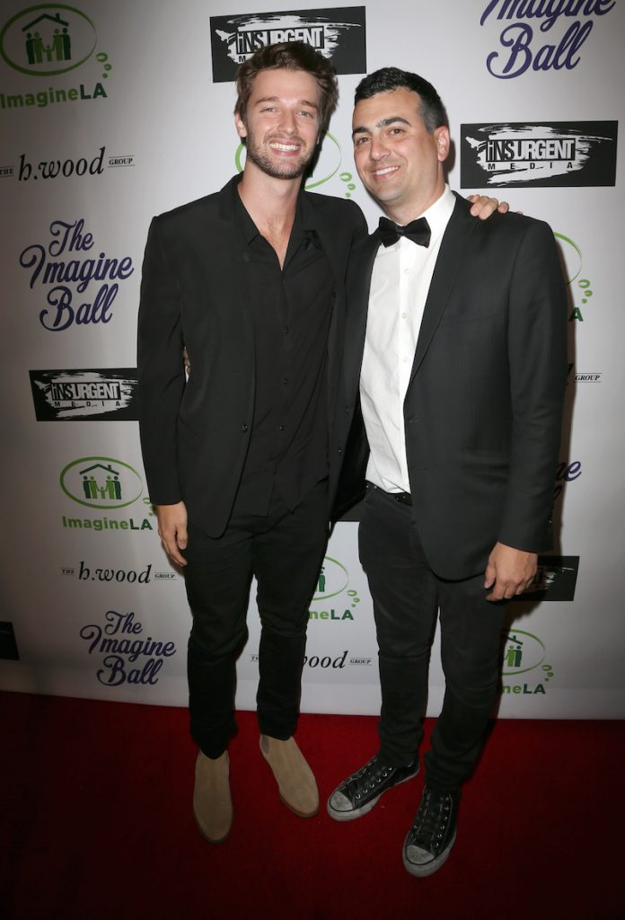 Patrick Schwarzennager joins The h.wood Group's John Terzian at the 3rd ANNUAL IMAGINE BALL, presented by Insurgent Media & The h.wood Group with celebratory sips by Allaire Vodka & Aged Crystal Tequila at Bootsy Bellows last Thursday, May 5th, 2016, in West Hollywood, CA