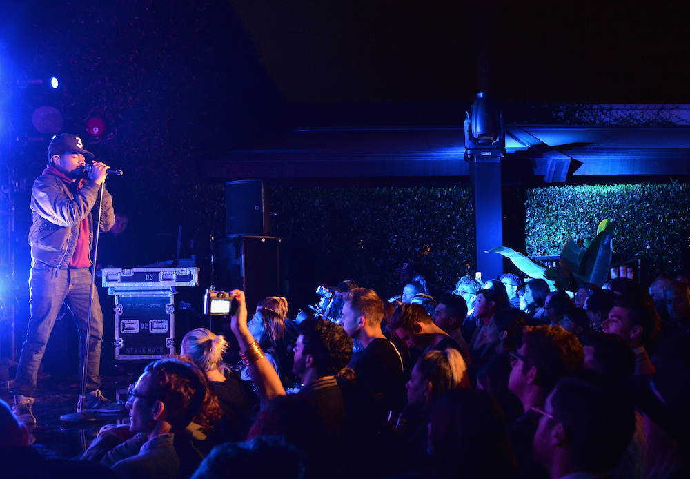 Chance The Rapper performs onstage durinng Take-Two's Annual E3 Kickoff Party at Cecconi's Restaurant on June 13, 2016 in Los Angeles, California