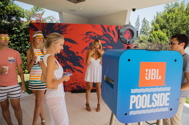 "JBL Poolside Event in Los Angeles Launches the Fully Submersible "" JBL Charge 3"" Portable Speaker."