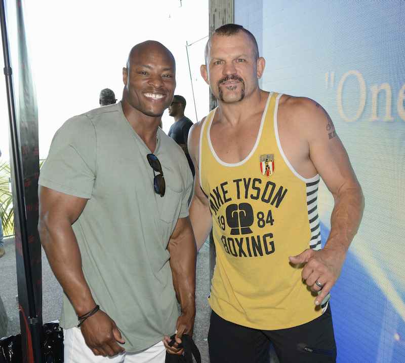 Former UFC Fighter Chuck Liddell (R) and Former NFL Player Tony Parrish at 2016 ESPYs Talent Resources Sports Luxury Lounge on July 12, 2016 in Los Angeles, California