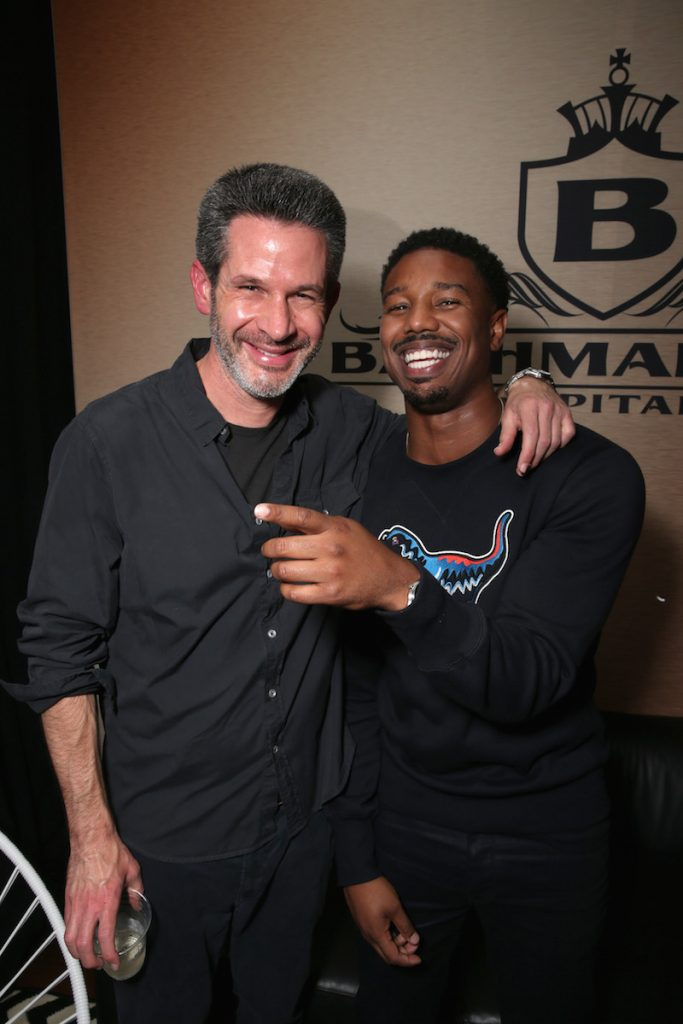 Screenwriter Simon Kinberg and actor Michael B. Jordan attend Entertainment Weekly's Comic-Con Bash held at Float, Hard Rock Hotel San Diego on July 24, 2016 in San Diego, California sponsored by HBO