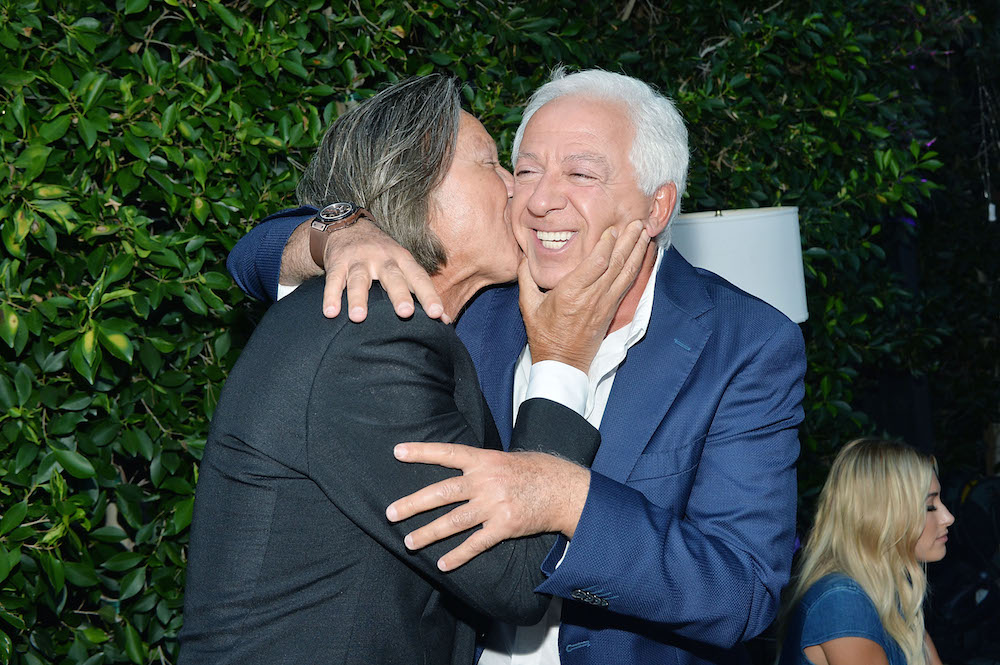 Mohamed Hadid and Paul Marciano attend GUESS Dare + Double Dare Fragrance Launch at Ysabel on July 27, 2016 in West Hollywood, California