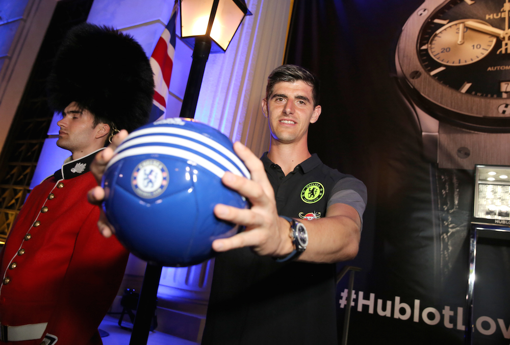 Football Player Thibaut Courtois attends Hublot x Chelsea FC event in Los Angeles at Sony Pictures Studios on July 28, 2016 in Culver City, California