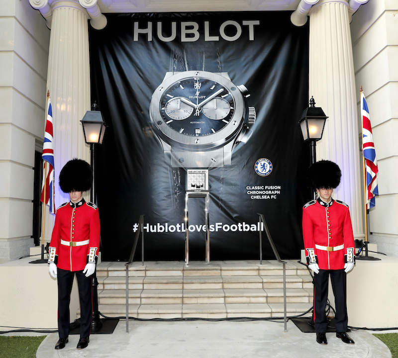 A view of the atmosphere at Hublot x Chelsea FC event in Los Angeles at Sony Pictures Studios on July 28, 2016 in Culver City, California