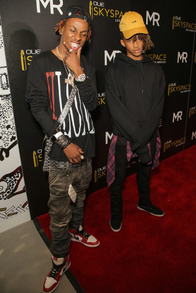 Jaden Smith and Rich the Kid attend OUE Skyspace LA Launch hosted by Kendall Jenner