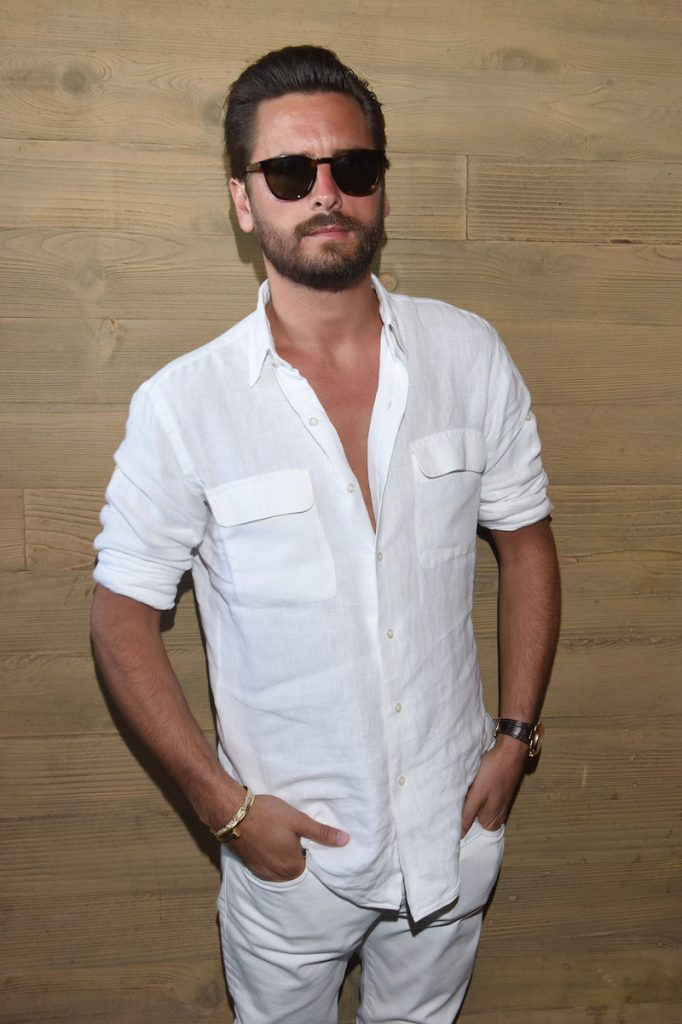 "Scott Disick had a relaxed vibe as he attended the Booty Bellows ""Red, White and Bootsy"" bash hosted by John Terzian and The h.wood Group in honor of the 4th of July yesterday at Nobu Malibu in Malibu, CA."
