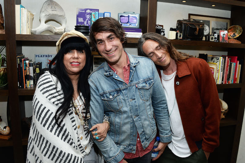 (L-R) Bungalow Huntington Beach co-owners Jen Rosero and Brent Bolthouse,  and recording artist Brandon Boyd attend the Grand Opening of The Bungalow Huntington Beach at The Bungalow Huntington Beach on July 7, 2016 in Huntington Beach, California