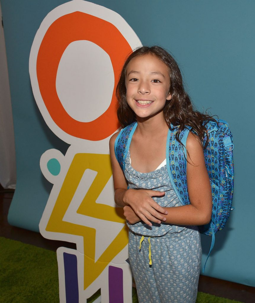 Aubrey Anderson-Emmons celebrates Yoobi x i am OTHER Presented by Pharrell Williams, a limited-edition collection that gives back to U.S. classrooms in need on August 11, 2016 in Los Angeles, California