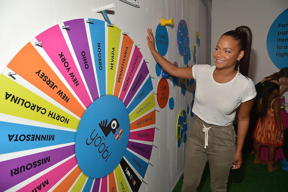 Christina Milian celebrates Yoobi x i am OTHER Presented by Pharrell Williams, a limited-edition collection that gives back to U.S. classrooms in need on August 11, 2016 in Los Angeles, California