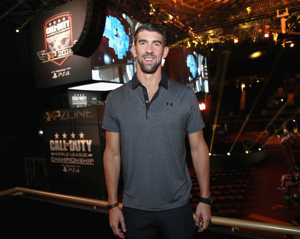Olympic swimmer Michael Phelps attends The Ultimate Fan Experience, Call Of Duty XP 2016 presented by Activision at The Forum on September 2, 2016 in Inglewood, California